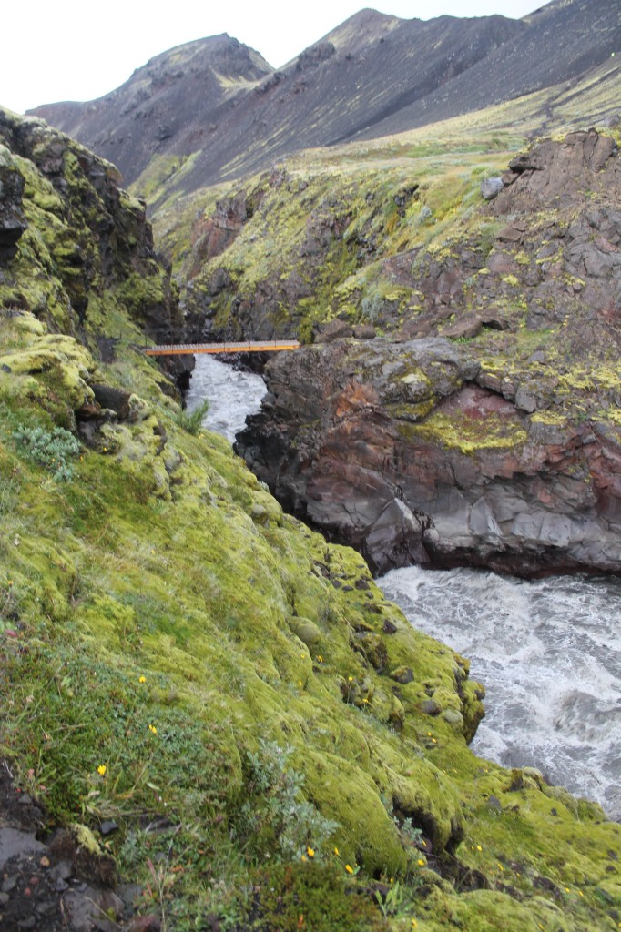 Híd egy vadabb patak felett